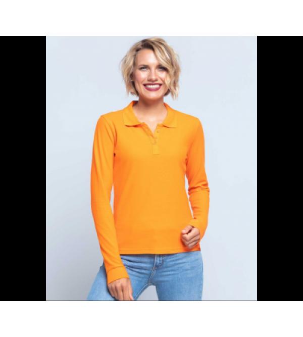 Женская футболка-поло с длинным рукавом