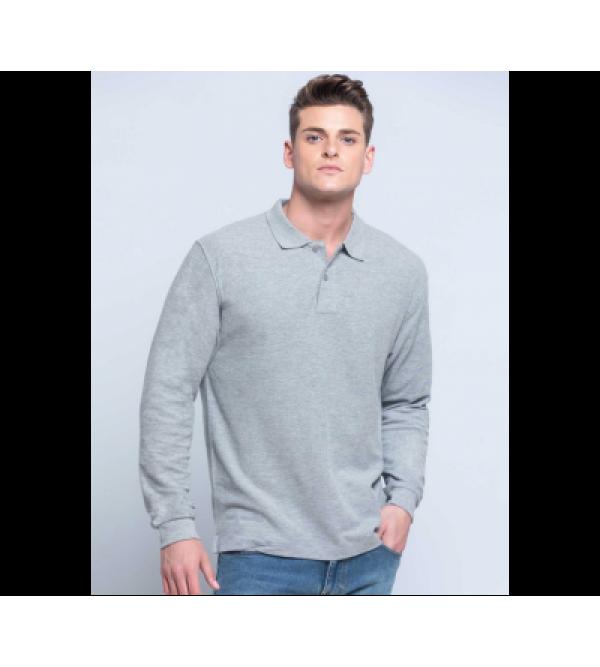 Чоловіча футболка-поло з довгим рукавом